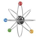 model orbital för atom royaltyfri illustrationer