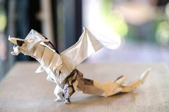 model origami dragon Royalty Free Stock Image