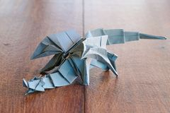 model origami dragon Royalty Free Stock Images