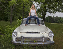 Model Outside Automobile Stock Images
