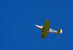 A model P-51D does a flyby. An R/C model P-51D does a flyby for the crowd Stock Photos