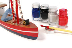 Model painting Royalty Free Stock Photos