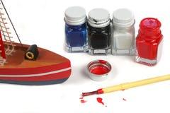 Model painting Stock Photo