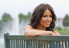 Model In Park Stock Photo