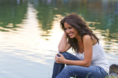 Model In Park Royalty Free Stock Images