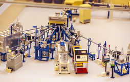 Model of a particle accelerator Royalty Free Stock Photography