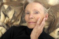 model pensionär för glamour Arkivbilder