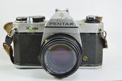Model of Pentax K 1000 a classic film camera Royalty Free Stock Photo