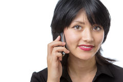 Model on phone Stock Images