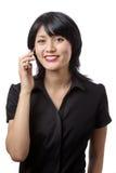 Model on phone Royalty Free Stock Photo