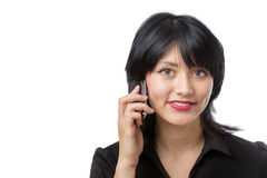 Model on phone Stock Photography