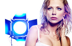 Model photo session Stock Image