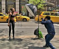 Model Photo Shoot in New York royalty free stock image