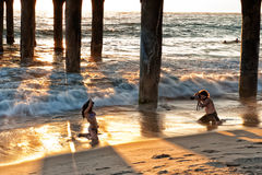 Model photography at Manhattan Beach, LA Stock Images