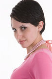 Model in pink top Royalty Free Stock Photography