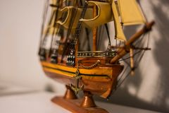 Model Pirate Ship stock photo