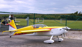 Model Plane. With pilot doll Royalty Free Stock Photo