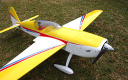 Model Plane. With pilot doll Stock Photo