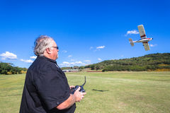 Model Plane Pilot Flying Field Royalty Free Stock Photo