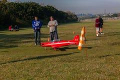 Model Plane Taxi Runway Controller Stock Photos