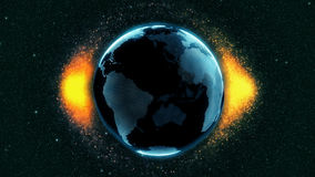 Model of planet Earth surrounded by unknown particles Royalty Free Stock Photos