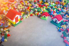 Model of plastic house building home concept Stock Image