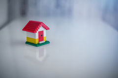 Model of plastic house building Royalty Free Stock Photography