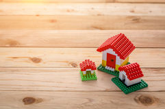 Model of plastic house building Royalty Free Stock Photo