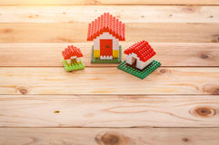 Model of plastic house royalty free stock image