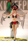 Model on podium Royalty Free Stock Photography