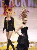 Model on podium Royalty Free Stock Images