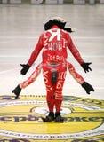 Model on podium Royalty Free Stock Photo