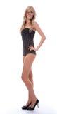 Model in polka-dot body Royalty Free Stock Image