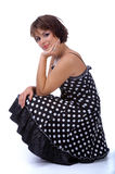 Model in polka-dot dress Stock Photos