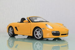 Model porsche boxster s side view Royalty Free Stock Image