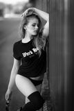 Model. Portrait of a beautiful italian female model Royalty Free Stock Photos