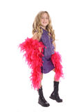 Model Pose Child With Boa Royalty Free Stock Photography