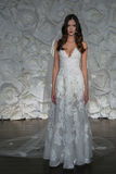 A model pose at Naeem Khan lookbook shoot during Fall 2015 Bridal Collection Royalty Free Stock Photography