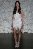 A model pose at Naeem Khan lookbook shoot during Fall 2015 Bridal Collection Stock Images