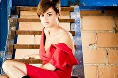 model posera barn Royaltyfri Bild