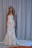 A model poses at the Henry Roth Bridal Sprng 2016 Collection presentation. NEW YORK, NY - APRIL 22: A model poses at the Henry Roth Bridal Sprng 2016 Collection Stock Photography