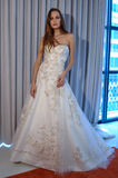 A model poses at the Henry Roth Bridal Sprng 2016 Collection presentation. NEW YORK, NY - APRIL 22: A model poses at the Henry Roth Bridal Sprng 2016 Collection Royalty Free Stock Photography