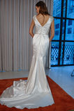 A model poses at the Henry Roth Bridal Sprng 2016 Collection presentation. NEW YORK, NY - APRIL 22: A model poses at the Henry Roth Bridal Sprng 2016 Collection Royalty Free Stock Image