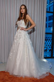 A model poses at the Henry Roth Bridal Sprng 2016 Collection presentation. NEW YORK, NY - APRIL 22: A model poses at the Henry Roth Bridal Sprng 2016 Collection Royalty Free Stock Photos