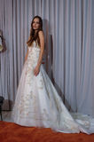 A model poses at the Henry Roth Bridal Sprng 2016 Collection presentation Stock Images