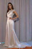 A model poses at the Henry Roth Bridal Sprng 2016 Collection presentation Royalty Free Stock Photography