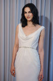 A model poses at the Henry Roth Bridal Sprng 2016 Collection presentation. NEW YORK, NY - APRIL 22: A model poses at the Henry Roth Bridal Sprng 2016 Collection Stock Image
