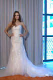A model poses at the Henry Roth Bridal Sprng 2016 Collection presentation Royalty Free Stock Images