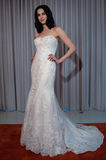 A model poses at the Henry Roth Bridal Sprng 2016 Collection presentation Stock Photo