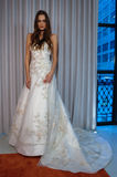 A model poses at the Henry Roth Bridal Sprng 2016 Collection presentation Royalty Free Stock Image